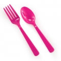 Cutlery Magenta Pink (16)